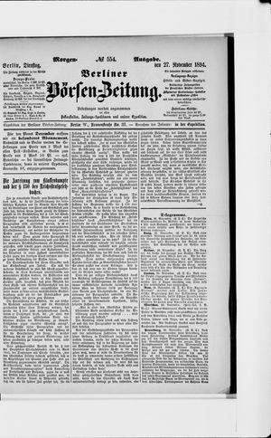 Berliner Börsen-Zeitung vom 27.11.1894