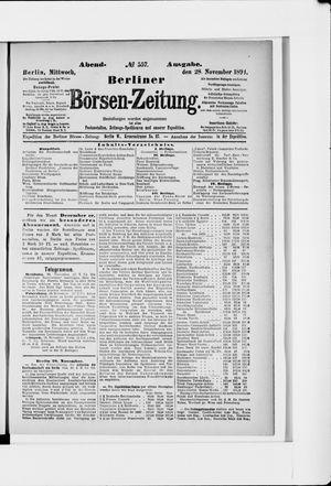 Berliner Börsen-Zeitung vom 28.11.1894
