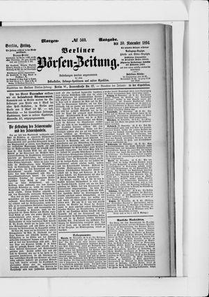 Berliner Börsen-Zeitung vom 30.11.1894
