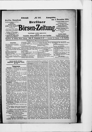 Berliner Börsen-Zeitung vom 01.12.1894