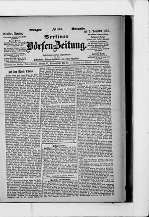 Berliner Börsen-Zeitung vom 02.12.1894