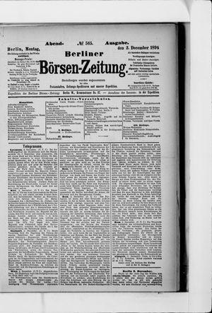 Berliner Börsen-Zeitung vom 03.12.1894
