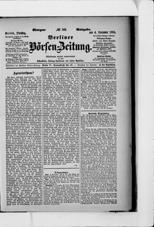 Berliner Börsen-Zeitung vom 04.12.1894