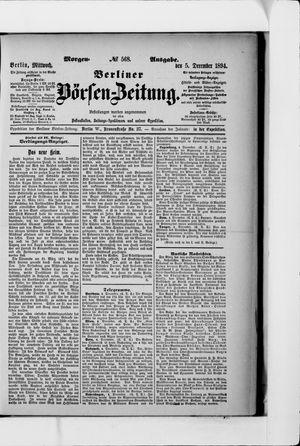 Berliner Börsen-Zeitung vom 05.12.1894