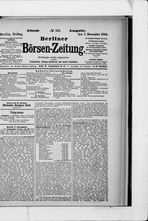 Berliner Börsen-Zeitung vom 07.12.1894