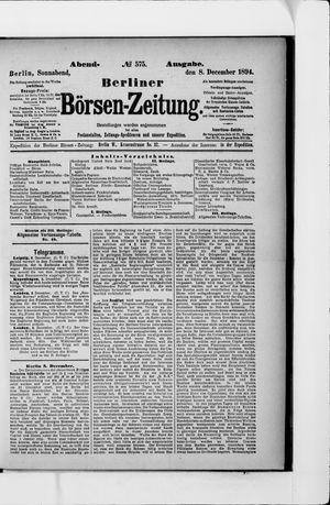Berliner Börsen-Zeitung vom 08.12.1894