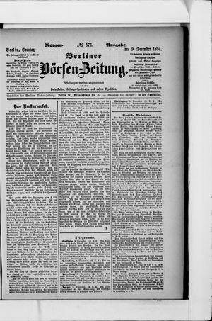 Berliner Börsen-Zeitung vom 09.12.1894