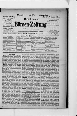 Berliner Börsen-Zeitung vom 10.12.1894