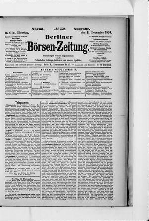 Berliner Börsen-Zeitung vom 11.12.1894
