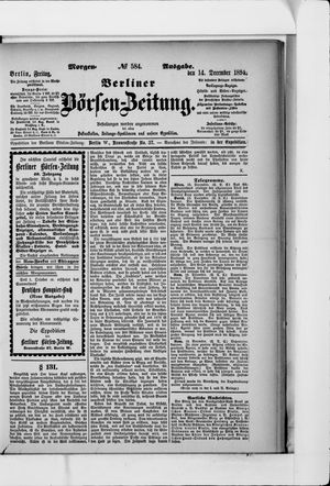 Berliner Börsen-Zeitung vom 14.12.1894