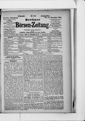 Berliner Börsen-Zeitung vom 15.12.1894