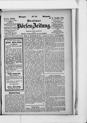 Berliner Börsen-Zeitung vom 16.12.1894