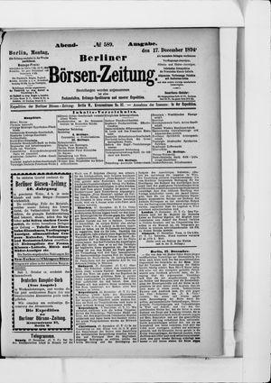 Berliner Börsen-Zeitung vom 17.12.1894