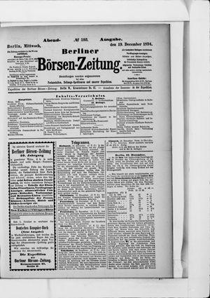 Berliner Börsen-Zeitung vom 19.12.1894