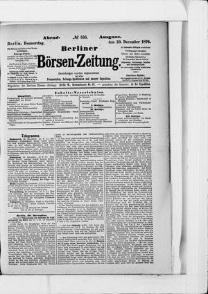 Berliner Börsen-Zeitung vom 20.12.1894