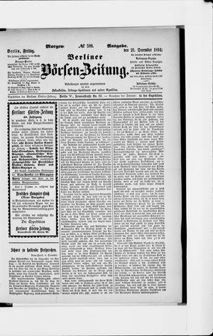 Berliner Börsen-Zeitung vom 21.12.1894