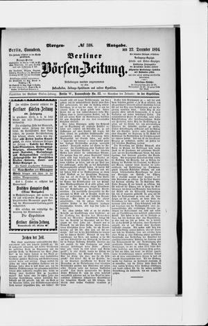 Berliner Börsen-Zeitung vom 22.12.1894