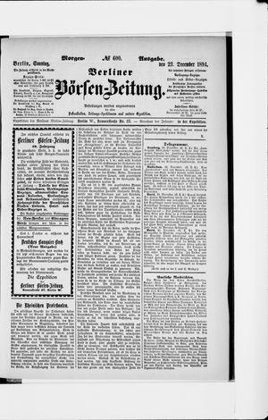Berliner Börsen-Zeitung vom 23.12.1894