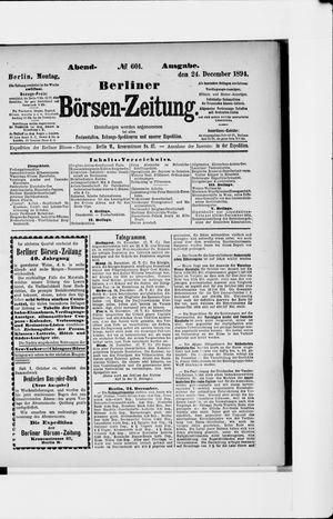 Berliner Börsen-Zeitung vom 24.12.1894