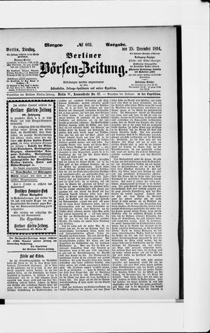 Berliner Börsen-Zeitung vom 25.12.1894