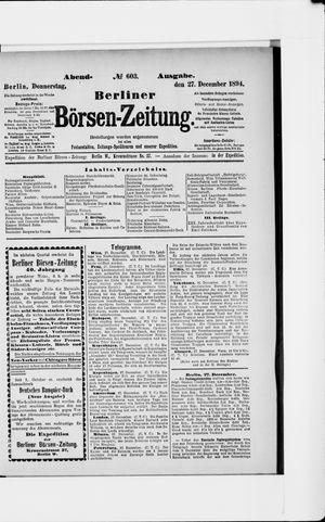 Berliner Börsen-Zeitung vom 27.12.1894