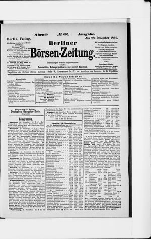 Berliner Börsen-Zeitung vom 28.12.1894