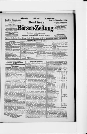 Berliner Börsen-Zeitung vom 29.12.1894