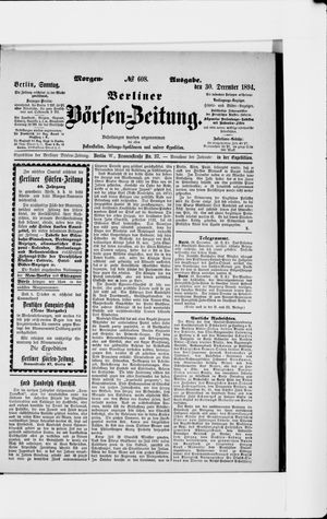 Berliner Börsen-Zeitung vom 30.12.1894