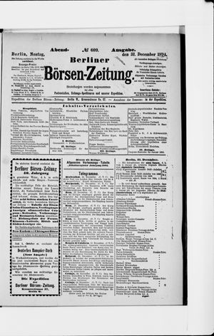 Berliner Börsen-Zeitung vom 31.12.1894