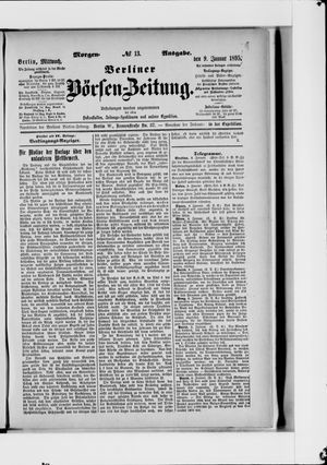Berliner Börsen-Zeitung on Jan 9, 1895