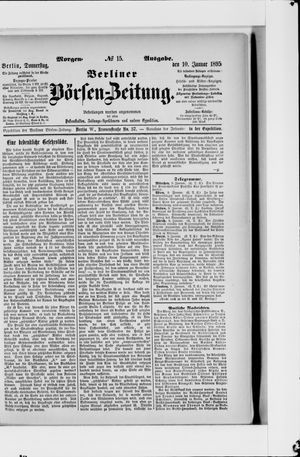 Berliner Börsen-Zeitung vom 10.01.1895