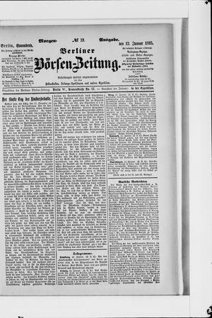 Berliner Börsen-Zeitung vom 12.01.1895