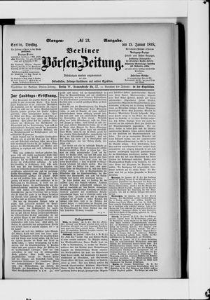 Berliner Börsen-Zeitung vom 15.01.1895