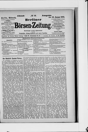 Berliner Börsen-Zeitung vom 16.01.1895