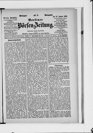 Berliner Börsen-Zeitung vom 19.01.1895