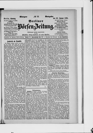 Berliner Börsen-Zeitung vom 20.01.1895