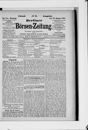 Berliner Börsen-Zeitung vom 22.01.1895