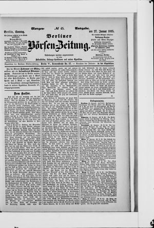 Berliner Börsen-Zeitung vom 27.01.1895