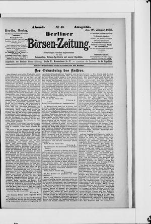 Berliner Börsen-Zeitung vom 28.01.1895