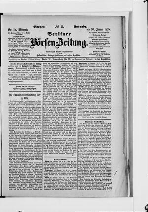 Berliner Börsen-Zeitung vom 30.01.1895