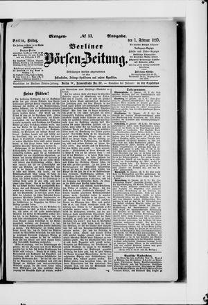 Berliner Börsen-Zeitung vom 01.02.1895