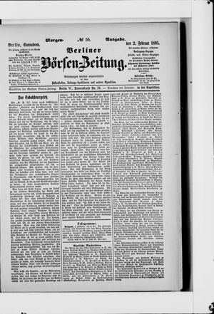 Berliner Börsen-Zeitung vom 02.02.1895