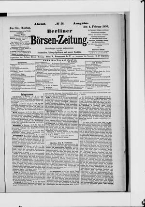 Berliner Börsen-Zeitung vom 04.02.1895