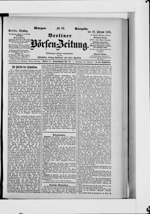 Berliner Börsen-Zeitung vom 19.02.1895