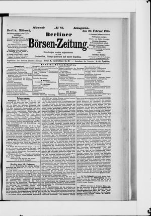 Berliner Börsen-Zeitung vom 20.02.1895
