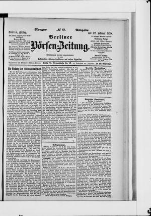 Berliner Börsen-Zeitung vom 22.02.1895