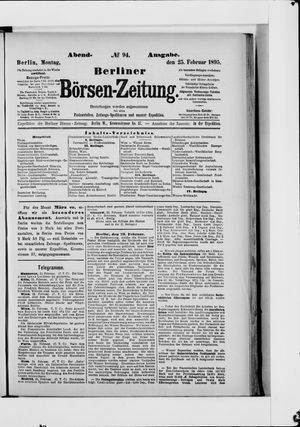 Berliner Börsen-Zeitung vom 25.02.1895