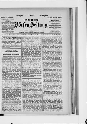 Berliner Börsen-Zeitung vom 27.02.1895