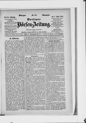 Berliner Börsen-Zeitung vom 07.04.1895