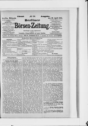 Berliner Börsen-Zeitung vom 10.04.1895